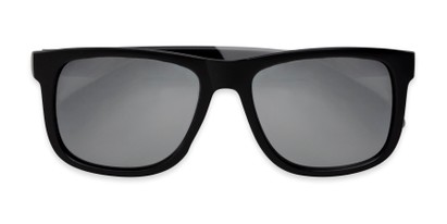Folded of Caleb in Black/Silver Frame with Silver Mirrored Lenses