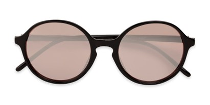 Folded of Cece in Black Frame with Pink Mirrored Lenses