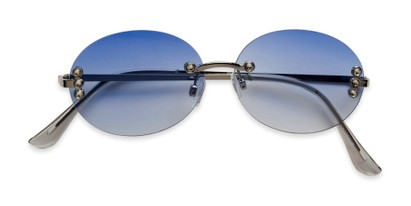 Folded of Chastain in Silver Frame with Blue Gradient Lenses