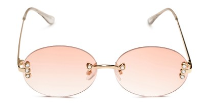 Front of Chastain in Gold Frame with Pink Gradient Lenses