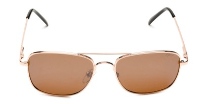 Front of Coleman in Gold Frame with Amber Lenses