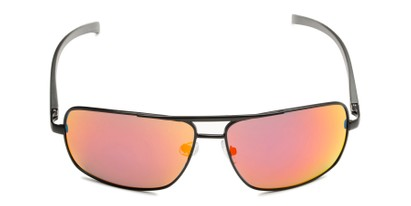 Front of Connor in Black Frame with Red/Orange Mirrored Lenses