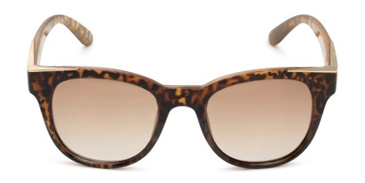 Front of Dana by Foster Grant in Tortoise/Gold Frame with Amber Gradient Lenses