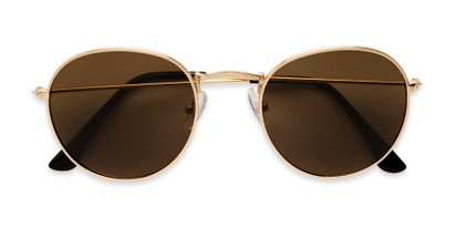 Folded of Dapper in Gold Frame with Amber Lenses
