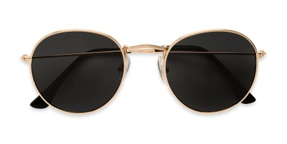 Folded of Dapper in Gold Frame with Smoke Lenses