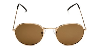 Front of Dapper in Gold Frame with Amber Lenses