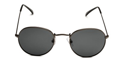 Front of Dapper in Black Frame with Smoke Lenses