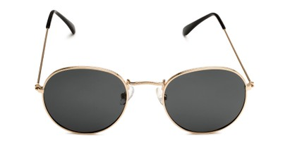Front of Dapper in Gold Frame with Smoke Lenses
