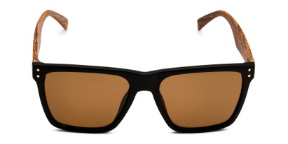 Front of Derek in Black/Wood Frame with Amber Lenses