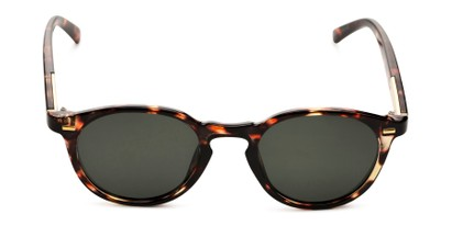 Front of Easton by Foster Grant in Brown Tortoise Frame with Smoke Gradient Lenses