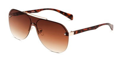 Angle of Ember in Gold/Tortoise Frame with Amber Gradient Lenses, Women's and Men's Aviator Sunglasses