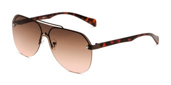 Angle of Ember in Bronze/Tortoise Frame with Rose Gradient Lenses, Women's and Men's Aviator Sunglasses