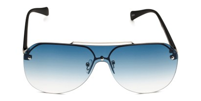 Front of Ember in Silver/Black Frame with Blue Gradient Lenses