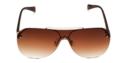 Front of Ember in Gold/Tortoise Frame with Amber Gradient Lenses