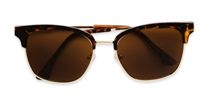 Folded of Everett in Tortoise/Gold Frame with Amber Lenses