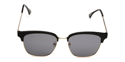 Front of Everett in Black/Gold Frame with Smoke Lenses