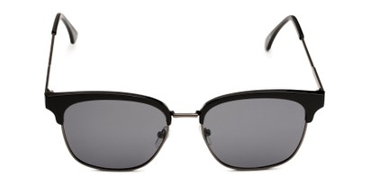 Front of Everett in Black/Grey Frame with Smoke Lenses