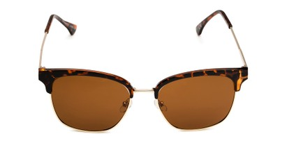 Front of Everett in Tortoise/Gold Frame with Amber Lenses