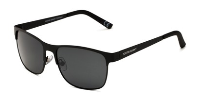Angle of FGMP 2006 by Foster Grant in Black Frame with Smoke Lenses, Men's Browline Sunglasses