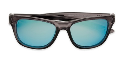 Folded of BG Floating 2002 by Body Glove in Grey Frame with Blue Mirrored Lenses