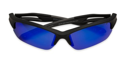 Folded of BG Floating 2001 by Body Glove in Matte Black Frame with Blue Lenses