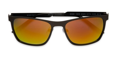 Folded of BGM 1906 by Body Glove in Matte Dark Grey Frame with Orange Mirrored Lenses