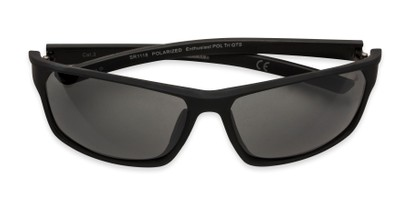 Folded of Enthusiast by IRONMAN Triathlon in Matte Black Frame with Smoke Lenses