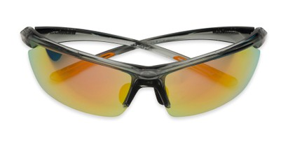 Folded of Joule by IRONMAN Triathlon in Grey Frame with Orange Mirrored Lenses
