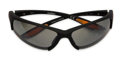 Folded of Strong by IRONMAN Triathlon in Matte Black Frame with Silver Lenses