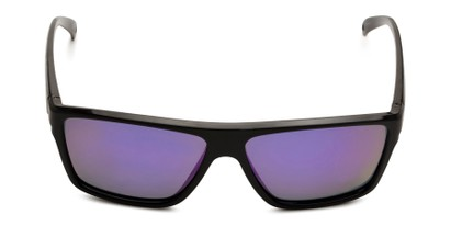 Front of BG Floating 1801 by Body Glove in Black Frame with Purple Mirrored Lenses
