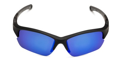 Front of BG Floating 2001 by Body Glove in Matte Black Frame with Blue Lenses