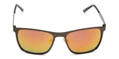 Front of BGM 1906 by Body Glove in Matte Dark Grey Frame with Orange Mirrored Lenses