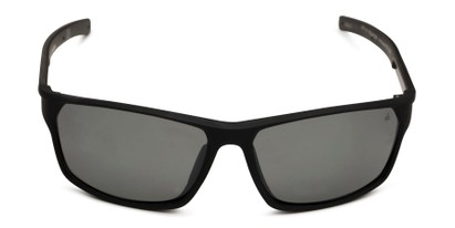 Front of Enthusiast by IRONMAN Triathlon in Matte Black Frame with Smoke Lenses