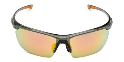 Front of Joule by IRONMAN Triathlon in Grey Frame with Orange Mirrored Lenses