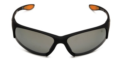 Front of Strong by IRONMAN Triathlon in Matte Black Frame with Silver Lenses