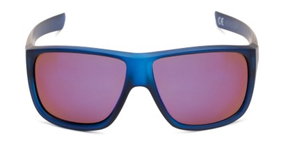 Front of George by Scin in Blue Frame with Blue Mirrored Lenses