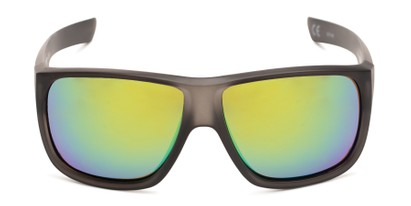 Front of George by Scin in Grey Frame with Green Mirrored Lenses