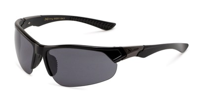 Angle of Grable in Black Frame with Smoke Lenses, Men's Sport & Wrap-Around Sunglasses