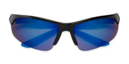Folded of Grable in Black/Blue Frame with Blue Mirrored Lenses