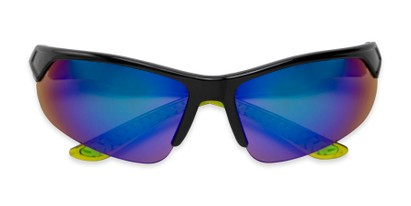 Folded of Grable in Black/Green Frame with Green/Blue Mirrored Lenses