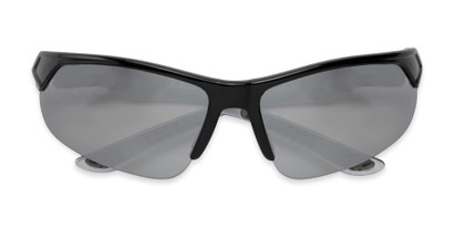 Folded of Grable in Black Frame with Silver Mirrored Lenses
