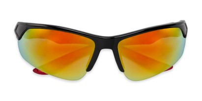 Folded of Grable in Black/Red Frame with Red/Orange Mirrored Lenses