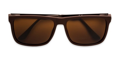 Folded of Grampian in Matte Brown Frame with Amber Lenses