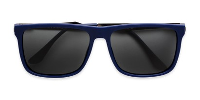 Folded of Grampian in Matte Blue Frame with Smoke Lenses