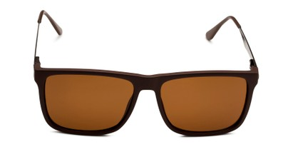 Front of Grampian in Matte Brown Frame with Amber Lenses