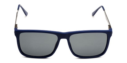 Front of Grampian in Matte Blue Frame with Smoke Lenses