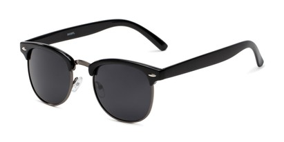 Angle of Harlem in Black/Grey Frame with Grey Lenses, Women's and Men's Browline Sunglasses