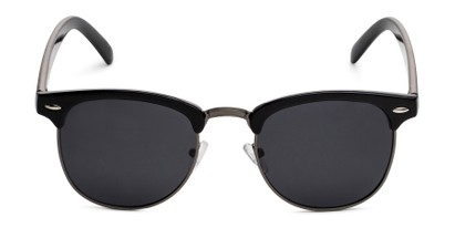 Front of Harlem in Black/Grey Frame with Grey Lenses