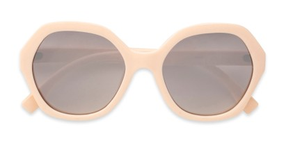 Folded of Harper in Light Pink Frame with Silver Mirrored Lenses