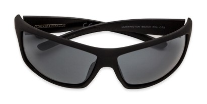 Folded of Huntington Beach by Body Glove in Matte Black Frame with Smoke Mirrored Lenses